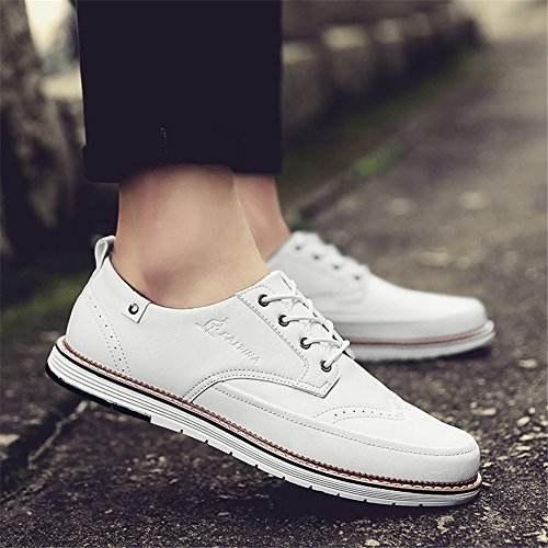 Business Pure Pure PU Primavera Scarpe uomo Black Shoe Pure Brown up Business leggero XUE Bianco Lace Traspirante da formale Estate Grey lavoro Scarpe B Casual UpqtnwYB