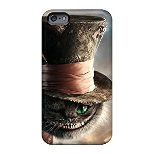 Aimeilimobile99 Apple Iphone 6s Great Cell-phone Hard Covers Unique Design Lifelike Cat In Alice In Wonderland Series [Bnm2032Wtwg]