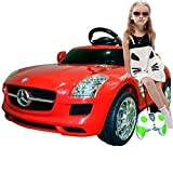 Red Mercedes Benz Sls R/c Mp3 Kids Ride on Car Electric Battery Toy by Goplus