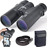 Gosky 10x42 Roof Prism Binoculars Adults, HD Professional Binoculars Bird Watching Travel Stargazing Hunting Concerts Sports-BAK4 Prism FMC Lens Phone Mount Strap Carrying Bag