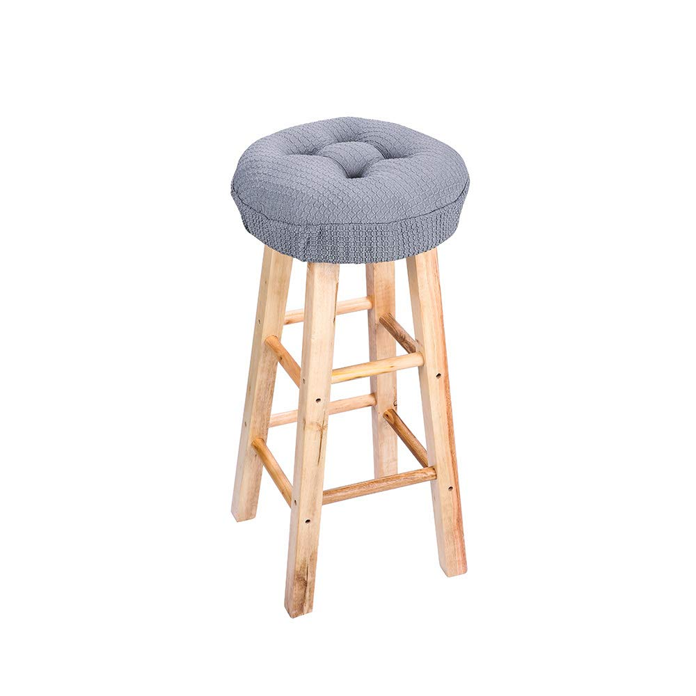 12.5'' Round Padded Bar Stool Cover Cushion, Suitable For 12''-13'' Wooden Stools, Super Comfortable to Relieve Pressure, Oil and Water Resistant, With Ties to Stay On