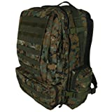 Digital Woodland Camouflage Advanced 3-Day Combat Pack – 22 x 16 x 12, MOLLE Compatible Backpack Bag, Outdoor Stuffs