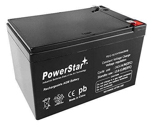 - POWERSTAR PowerStarHigh Rate 12V 15AH Sealed Lead Acid Battery for Ebike Electric Scooter Battery