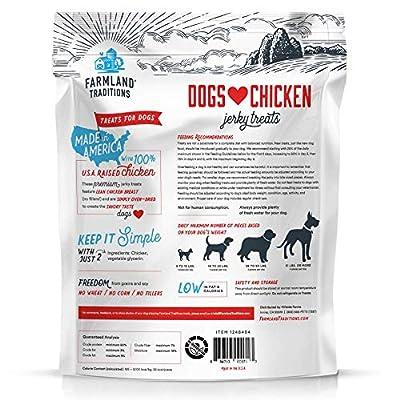 Farmland Traditions USA Made 3 lbs. Dogs Love Chicken Jerky Treats