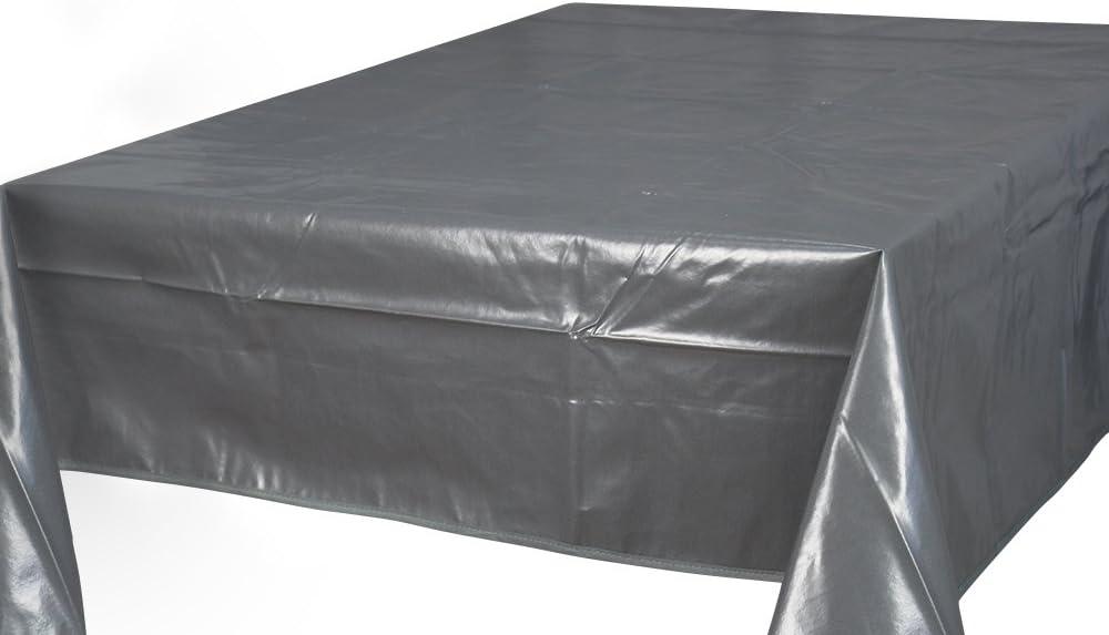 Home Direct Nappe toile cir/ée PVC Rectangulaire 140 x 240 cm Uni Beige