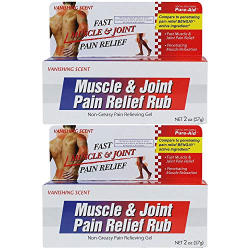3 Pk. Pure-Aid Muscle & Joint Pain Relief Gel 2 oz - Muscle Joint Pain Relief