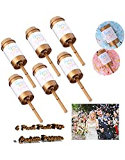 GUGELIVES 6 Pack Push Pop Confetti Poppers for Gender Reveal Wedding Party Supplies