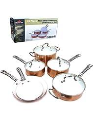 Ceramic Non-Stick Cookware Set, 10-Piece - Pot Pan Set Frying Cooking Kitchen - FREE SHIPPING