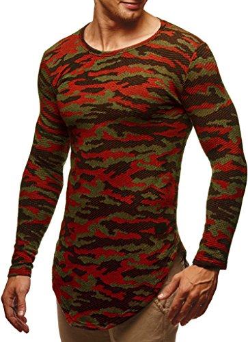 Leif Nelson Herren Pullover Rundhals-Ausschnitt Männer Longsleeve dünner Pulli Sweatshirt Langarmshirt Jungen Hoodie T-Shirt Langarm LN6364