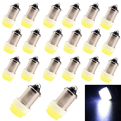 20w Reading Lamp (EverBright (Pack of 20 PCS) White 12V 1W Ceramic T11 BA9S T4W H6W Car Wedge Side Light Lamp Bulb LED Car Lights Bulb Clearance Wedge Light License Plate Lamp Width Light Reading Light Interior Lamp Door light Replacement forBA9S 53 57 182 257 363 430 615 756 1445 1155 1815 1819 1895 1889 1891 1893 1895 6253 12814 12929 W6W)