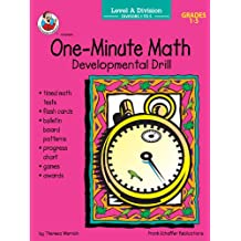 One Minute Math Division Divisors Level A Grades 1 5 Developmental Drill One Minute Math Drills