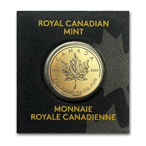 Royal Mint Gold Coins - 2015 CA - Present (Random Year) Gold Maple Leaf Maplegram In Assay Gold Brilliant Uncirculated