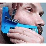 Peine Delineador de Barba Bigote 2 en 1 Tipo Beard Bro Herramienta Grooming Trimming Shaper