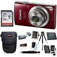 Canon PowerShot Digital Camera (Red)+ 32GB Memory Card+...