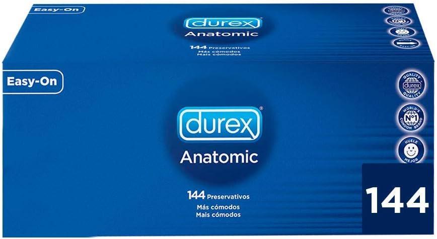 Durex Preservativos Anatomic Originales Naturales Natural Comfort - Pack 144 Condones