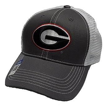 quality design d793b f39ea Georgia Bulldogs Adjustable Gray Cap Mesh Back Hat