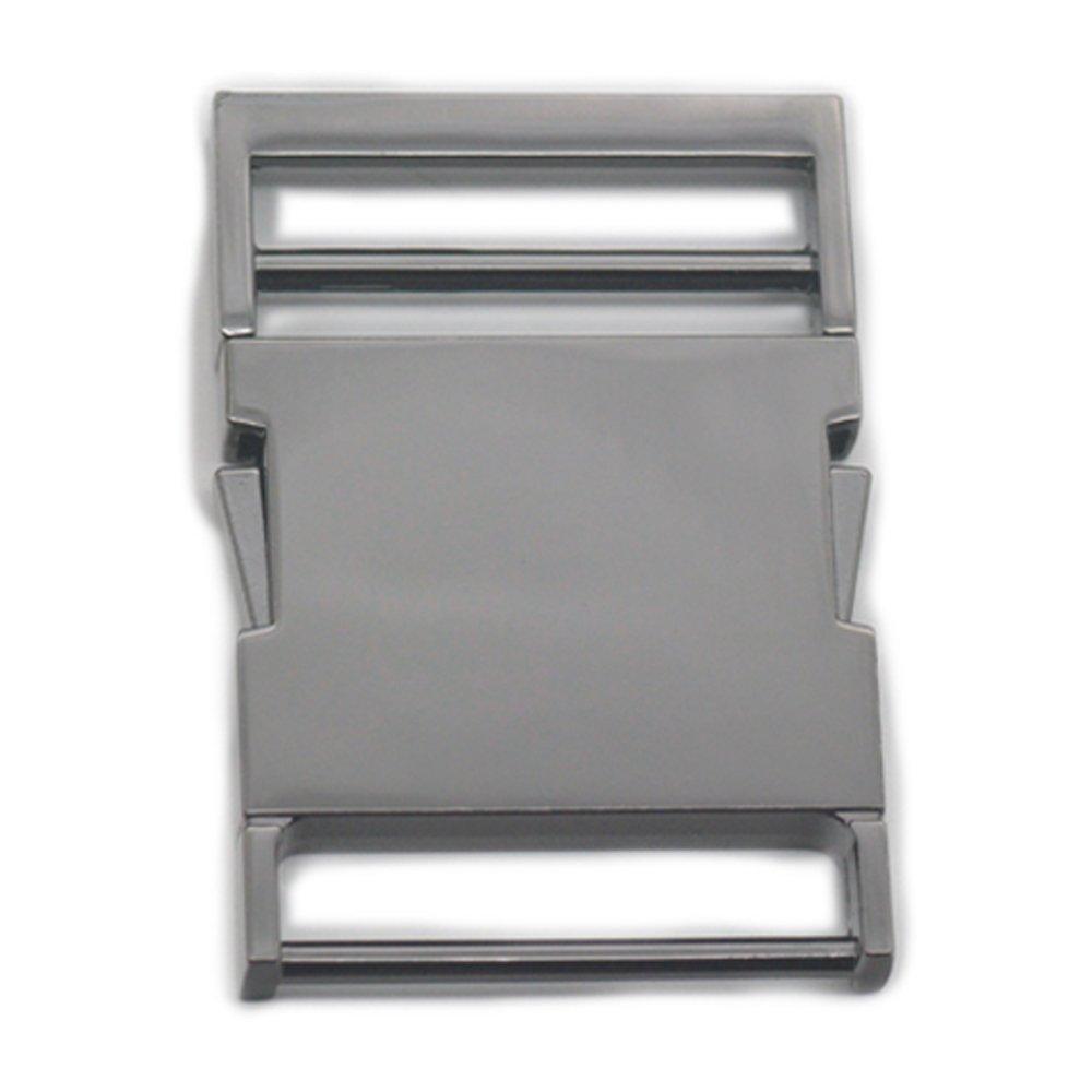 Fujiyuan 2 pcs Metal Buckles Side Release 1.5 38mm Paracord Shackle webbing strap for Bracelet Bag Purse Nickel
