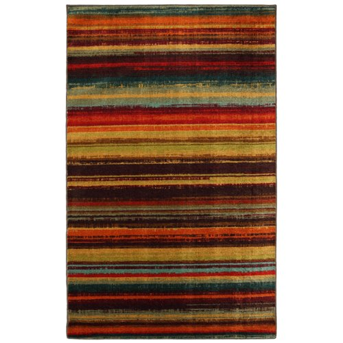 Mohawk Home New Wave Boho Stripe Printed Area Rug,  5'x8',  Multicolor