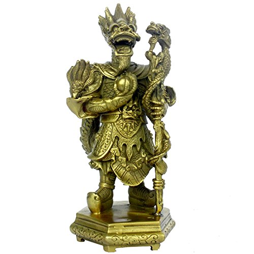 Chinese Feng Shui Handmade Brass Rain God Dragon King Statue Home Decor ()