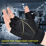 ihuan Ventilated Weight Lifting Gym Workout Gloves