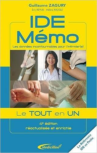 Télécharger en ligne IDE Mémo : Les données incontournables pour l'infirmier(e) pdf