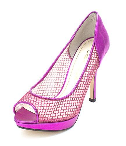 Toe Platform Berry Womens Jaelyn Pumps Peep Caparros Metal Awnt8PFwx