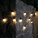Outdoor Frosted Festoon Lights - Battery Powered - Timer - 4.5m - 10 Warm White LED