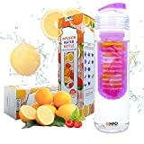 [New Release] EMPO® Fruit Infuser Water Bottle 700ml/25oz (BPA Free Tritan) - LIFETIME WARRANTY - Free Recipe eBook - High Quality - Durable and Light Weight - An easy way to create delicious water in just a few minutes - Gift Wrap Available (Purple)