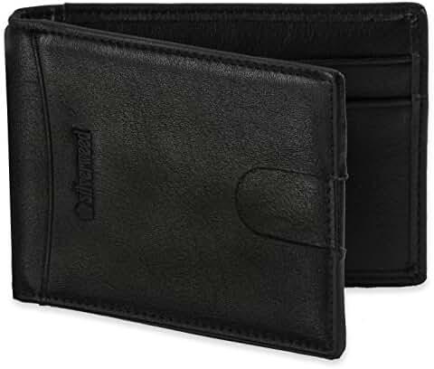Silverweed - Slim RFID Money Clip Wallet ID Window Card Holder - Vegan Leather