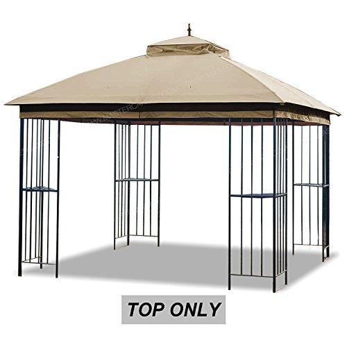 MASTERCANOPY Gazebo Replacement Canopy Roof for 10×10 Gazebo Model L-GZ038PST-F(Brown) (Garden Treasures Brown Gazebo Replacement Canopy Top)