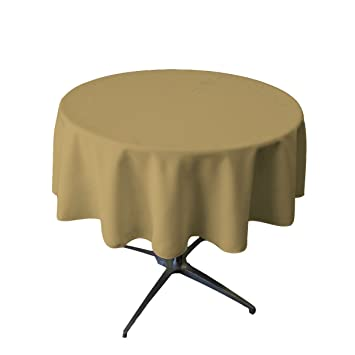 Tablecloth Round 54 Inch Taupe By Broward Linens