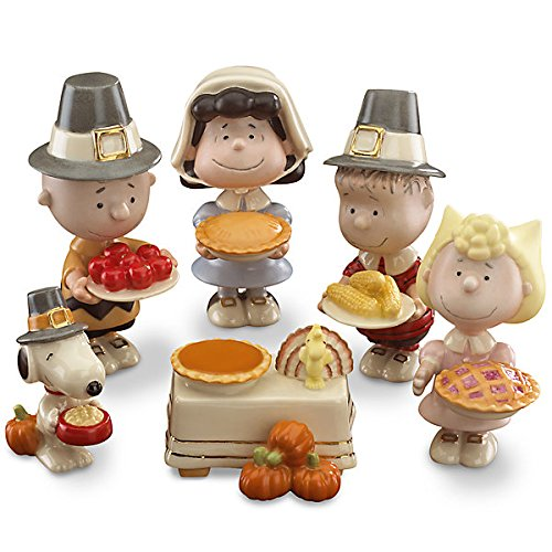 Lenox Peanuts Thanksgiving 6-piece Figurine Set 841131 NEW - Lenox Skating
