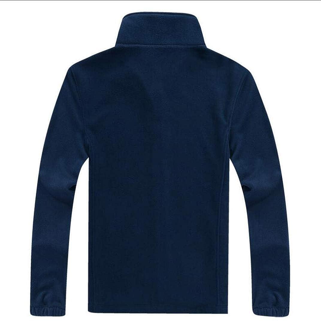 Joe Wenko Mens Coat Solid Color Jacket Big and Tall Slim Fleece Sweatshirts