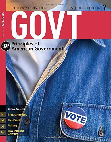 GOVT (with CourseMate, 1 term (6 months) Printed Access Card) (New, Engaging Titles from 4LTR Press) 7th edition by Sidlow, Edward I., Henschen, Beth (2015) Paperback