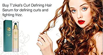 T zikal Curl Defining Hair Serum with Ojon Oil 4 Ounces Natural Curly Hair and Wavy Hair Product for Women – Used as an Anti Frizz, Curly Hair Styling Moisturizer – Sulfate Free – Paraben Free