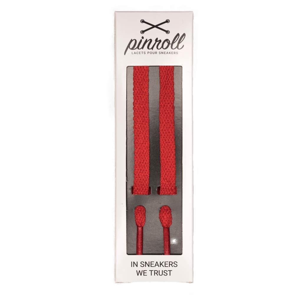 Pinroll Lacets PLATS UNIS (14 modèles et 5 longueurs) Lacets pour Sneakers et Baskets de Qualité