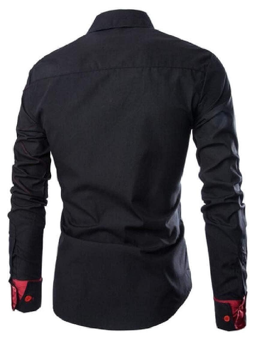 Mfasica Men Plaid Lounge Business Oversize Button Down Dress Shirt
