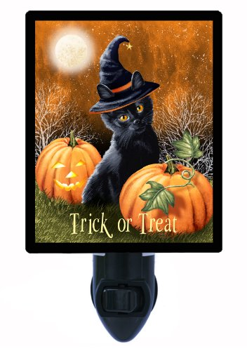 [Halloween Night Light - Trick or Treat Cat] (Trick Or Treat Costumes Images)
