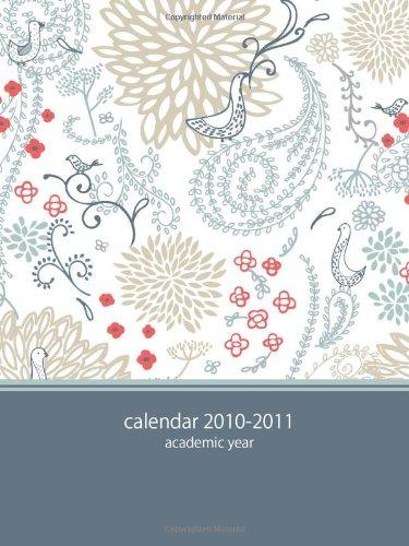 2010 Pocket Calendar - 2010-2011 Academic POCKET Planner: blue paisley