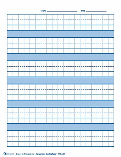 Raised Line Graph Spacing Paper: WideLines (50 Sheets)
