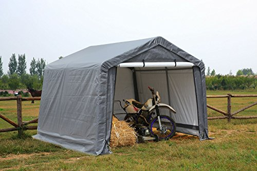 ATV Shelter, Mini Portable Garage,Grey, 6 Leg Steel Frame...