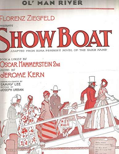 - Ol' ( Old ) Man River - Vintage Sheet Music from Showboat