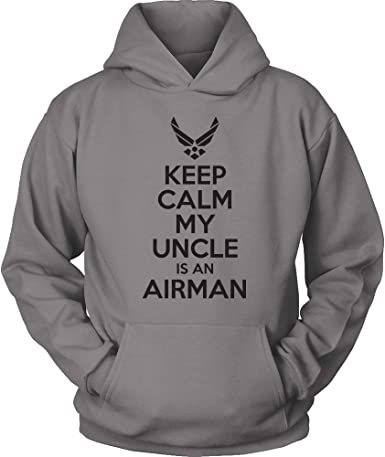 USAF Sister Hoodie USAF Sister Shirt Pink Keep Calm My Brother is an Airman Air Force Sister Shirt