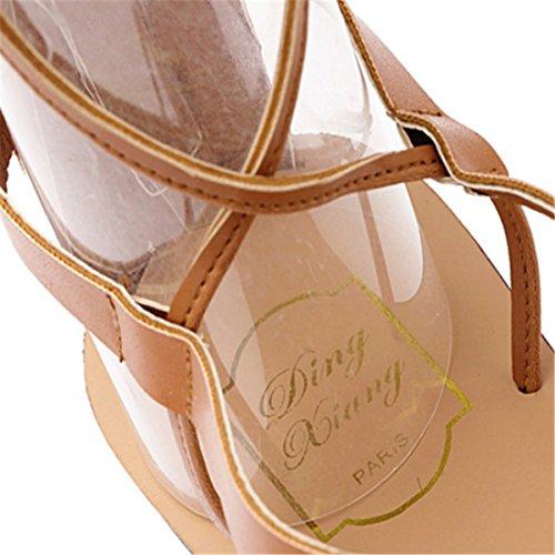 Lisa de Mujer Bailarinas Fanessy Marrón Piel t0qa4w