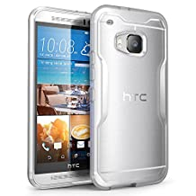 HTC One M9 Case, SUPCASE Unicorn Beetle Series Premium Hybrid Protective Clear Case for HTC One M9 , Retail Package (Frost Clear/Clear)