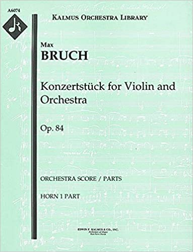 Konzertstück for Violin and Orchestra, Op.84 (Orchestra