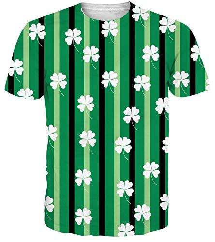 (Adicreat Men Women St Patrick's Day T Shirts Irish Outfits Green Tee Tops)