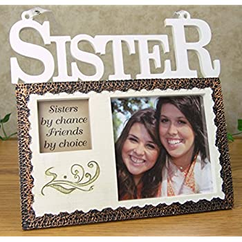 sisters hanging picture frame plaque sisters by chance friends by choice photo opening will go with any decor gift giving for your favorite sister
