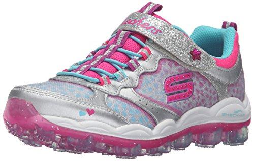 (Skechers Kids Skech Air Stardust Sneaker (Little Kid/Big Kid),Stardust Silver,)