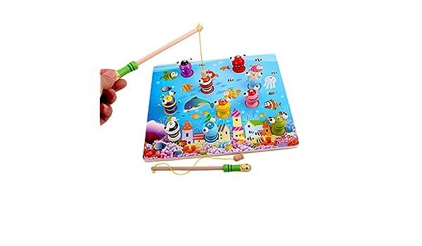 Los Niños Juguetes De Madera, Juguetes Juego De Pesca Magnético, 3D Jigsaw Puzzle Junta Conjunto, Trole 3D De Madera, para 2 3 4 5 Años Y Encima De La Muchacha Boy Regalos: